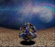 цветастый кубик 3d стоковые фото