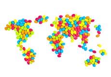 Цветастый мир конфеты. Стоковое Фото