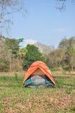 Цветастый напольный шатер стоковые фотографии rf