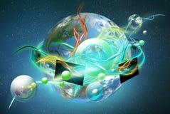 цветастый новый oled мир Стоковое Изображение RF
