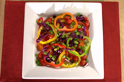 цветастый овощ плиты стоковое фото