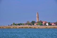 Цветастый остров Burano, около Венеции, Италия Стоковое фото RF