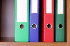 цветастый офис скоросшивателей Стоковое Изображение