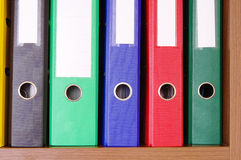 цветастый офис скоросшивателей Стоковое фото RF