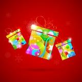 Цветастый подарок Стоковое Изображение