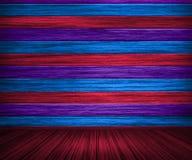 цветастый покрашенный интерьер деревянным Стоковые Изображения RF