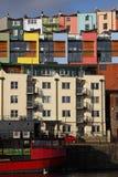 цветастый портовый район снабжения жилищем Стоковые Изображения