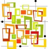 цветастый ретро вектор квадратов Стоковое фото RF