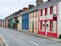 цветастый рядок домов Стоковые Изображения