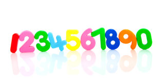 цветастый рядок пластмассы номеров Стоковая Фотография