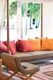 цветастый салон валиков напольный Стоковое Изображение