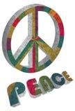 Цветастый символ мира на белой предпосылке Стоковые Изображения RF