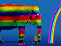 цветастый слон Стоковая Фотография