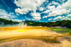 Цветастый термальный ландшафт в Новой Зеландии Стоковая Фотография RF