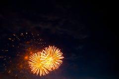 цветастый феиэрверк дисплея Стоковая Фотография