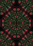 Цветастый флористический орнамент Стоковое Фото