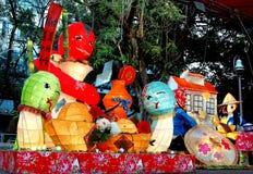 Цветастый фонарик на празднестве фонарика в Тайвани Стоковая Фотография