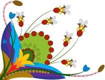 цветастый цветок иллюстрация штока