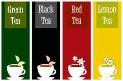 цветастый чай ярлыков иллюстрация вектора