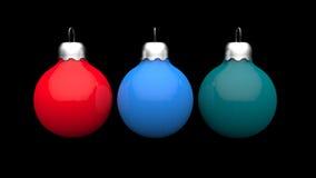 Цветастый шарик рождества бесплатная иллюстрация