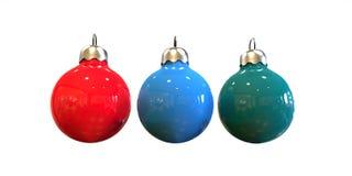 Цветастый шарик рождества Стоковая Фотография