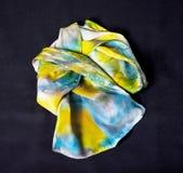 цветастый шелк шарфа Стоковое Изображение