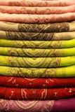 цветастый шелк ткани тайский Стоковое фото RF