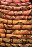 цветастый шелк ткани тайский Стоковое Изображение RF