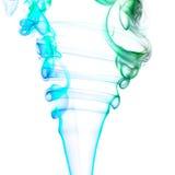 Цветастый дым на белой предпосылке Стоковые Изображения