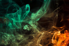 цветастый дым Стоковые Изображения