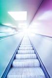 Цветастый эскалатор   Стоковые Фотографии RF