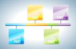 Цветастый элемент дизайна адвокатского сословия Стоковые Изображения RF