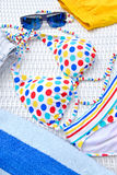 Цветастый Beachwear стоковые изображения