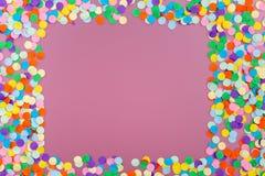 цветастый confetti стоковые фото