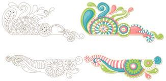 цветастый doodle Стоковые Изображения RF