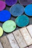 цветастый eyeshadow делает палитры вверх Стоковые Изображения