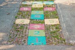 цветастый hopscotch Стоковое Фото