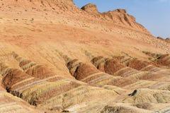 Цветастый landform Danxia в Zhangye Стоковые Фотографии RF