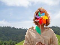 цветастый pinwheel стоковая фотография rf