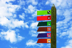 цветастый signboard деревянный Стоковые Фотографии RF