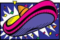 цветастый sombrero Иллюстрация вектора