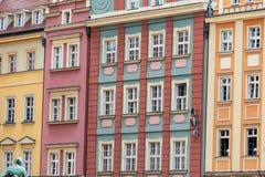 цветастый tenement домов стоковые изображения rf