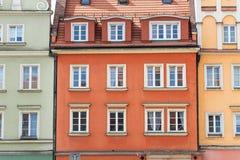 цветастый tenement домов стоковые изображения