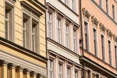 цветастый tenement домов стоковое фото rf