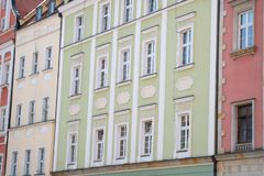 цветастый tenement домов стоковое изображение rf