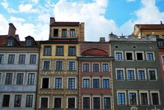 цветастый tenement домов стоковые фотографии rf