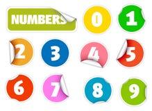 цветастыми штемпеля установленные номерами Стоковые Изображения RF