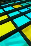 цветастым окно запятнанное стеклом Стоковое Изображение RF