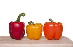 3 цветастых болгарского перца. Стоковые Изображения RF