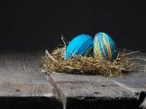 2 цветастых пасхального яйца Стоковые Фото